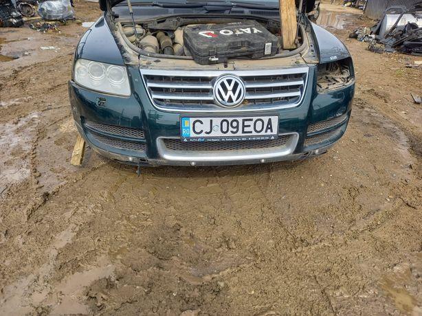 Bară față completa cu senzori parcare și spălător faruri VW Touareg