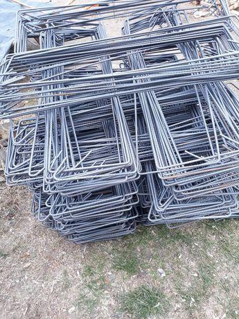 Etrieri fundatie si stalpi  20 pe 80 cm din fier beton de 8 mm PC 8 -