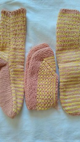 Комплект плетени чорапи с терлици