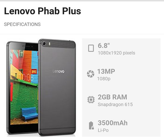Lenovo Phab plus display defect