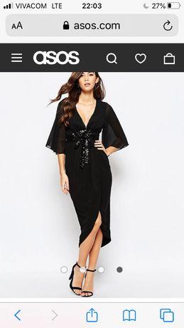 TFNC Елегантна черна рокля UK6 XS S отлична