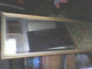 oglinda veche cristal bizotat dim 120 x 40 si rama de 4 cm