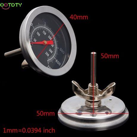 termometru pentru gratar,afumatoare,cuptor,etc max.350 si 500 grade