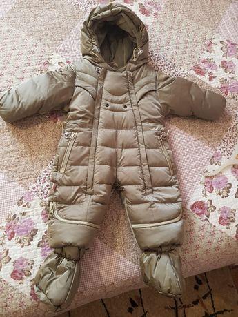 Зимний детский комбинезон трансформер
