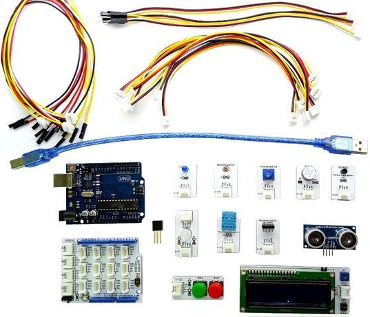 Grove комплект за начинаещи за Arduino с микроконтролер UNO R3 Ардуино