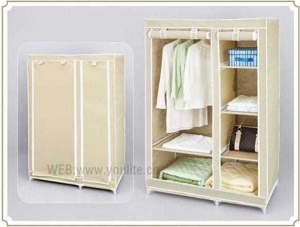 Тканевый шкаф 110см гардеробная вешалка для одежды Новый веще