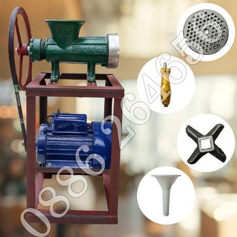 Чугуненени месомелачки с ел.двигател - Цена на пълен комплект месомела