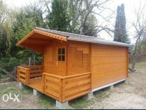 Vând cabane din lemn executate la fata locului orice dimensiune