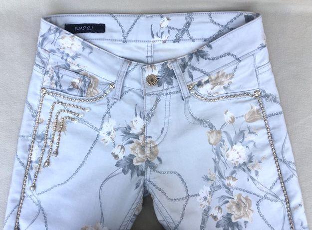 GUCCI FLORA Pantaloni Jeans/Denim Fashion Skinny Conici Original XS/26