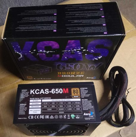 Блок питания AEROCOOL KCAS PLUS 650M