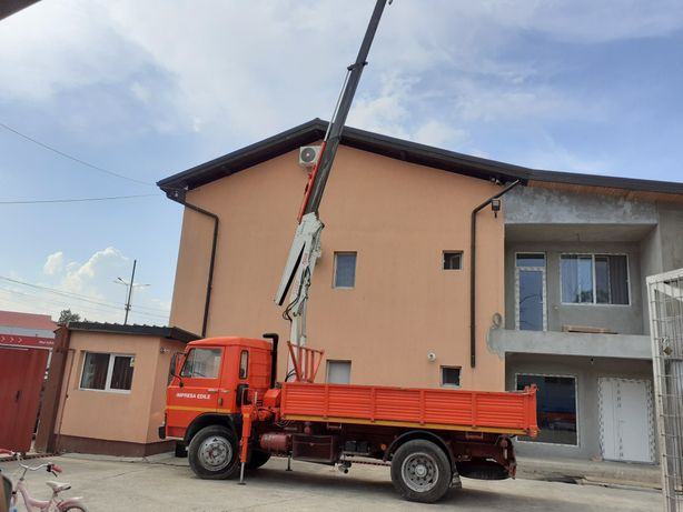 CamionFIAT -IVECO  basculabi+ MACARA 3600 kg