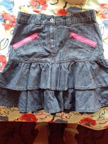 Дънкова пола с розови ципове-намаление!
