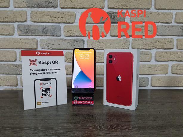 Смартфон Apple iPhone 11 64GB Red Рассрочка KASPI RED!Гарантия!