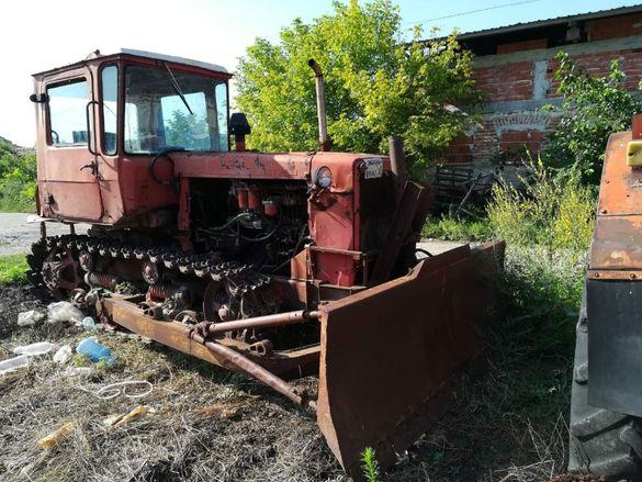Верижен трактор ДТ 75 , булдозер