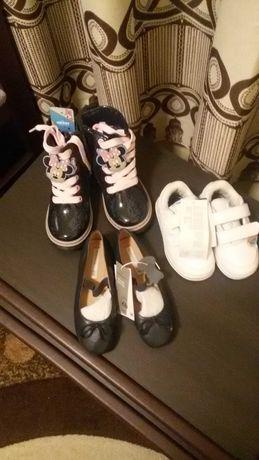 3 чифта нови детски обувки- Аdidas kids, Мickey and friends и НМ