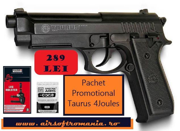 Pistol Taurus PT92 upgradat 4J airsoft pachet PROMOTIONAL