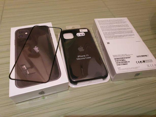 iphone 11 sigilat-in tipla, neverlock, 128gb Black, garantie Apple 1an