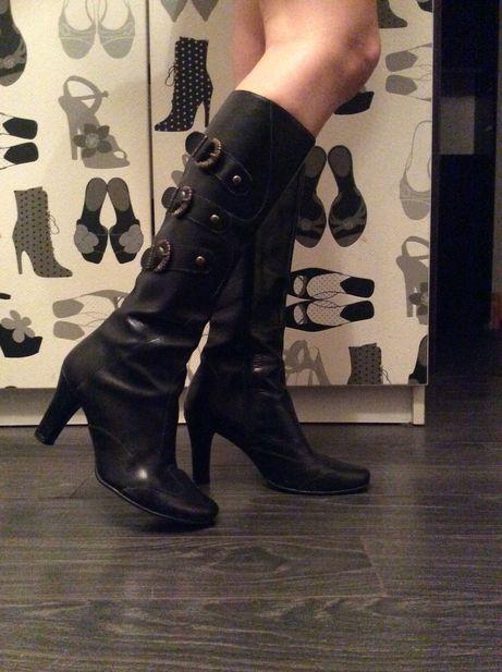 Vand cizme din piele naturala,culoare negru