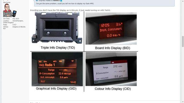 Activare Computer bord BC Opel Astra H,Vectra C,Zafira B,Astra J