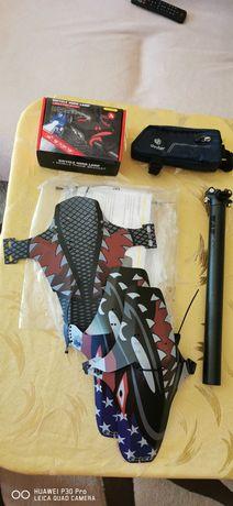 Аксесоари за велосипед: Калници, колче, чанта, поставка за телефон