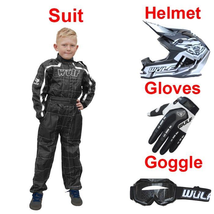 Costum moto de curse Kid Race Suit Wulfsport