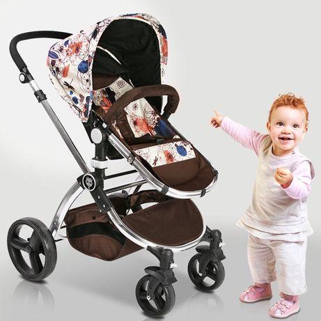 бебешка количка комбинирана НОВА 2 в 1 нов модел