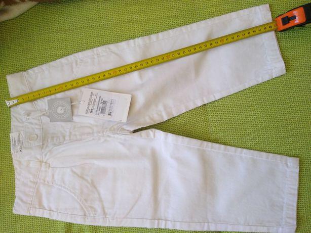 Pantalon alb chic copii 2-3ani