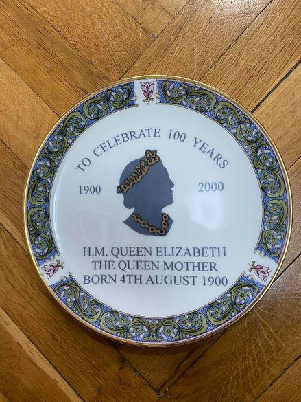 Колекционерска юбилейна порцеланова чиния с Кралица Елизабет