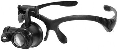 Lupa cu iluminare cu fixare pe ochelari/10X, 15X, 20X, 25X