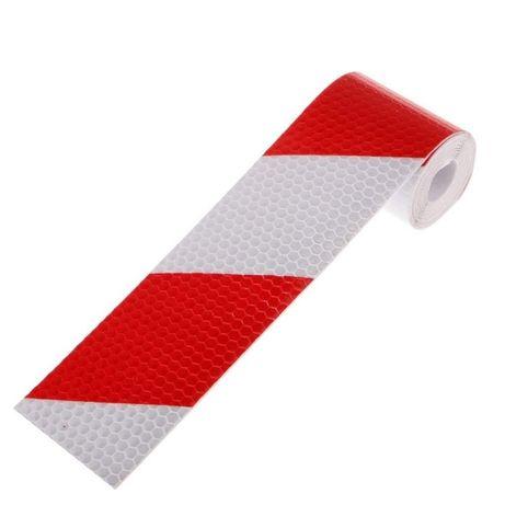 1метър Светлоотразителна лента бяло червено метър за ремарке камион бу