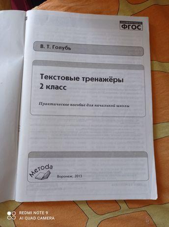 Текстовый тренажёр, русский язык, 2 класс
