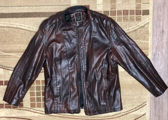 Продам мужскую кожаную куртку , б/у
