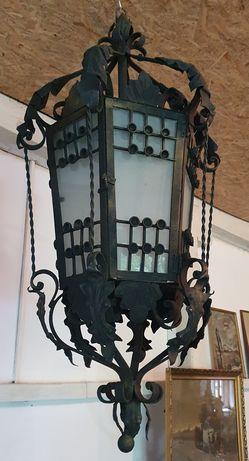 Lampă Fier Forjat *** vintage / antic / vechi / retro ***