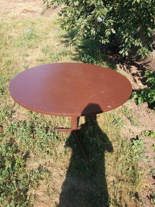 Masa de curte rotundă pe suport metalic Bucuresti - imagine 1