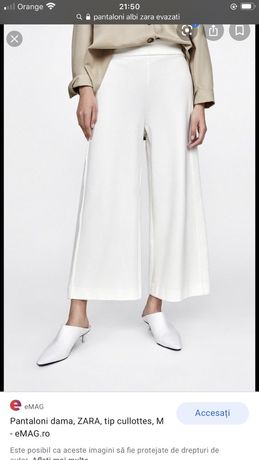 Pantaloni evazati Zara