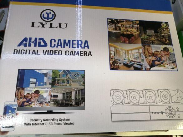 AHD Комплект 4 камери FULL HD + DVR за вътрешно / външно видео наблюде