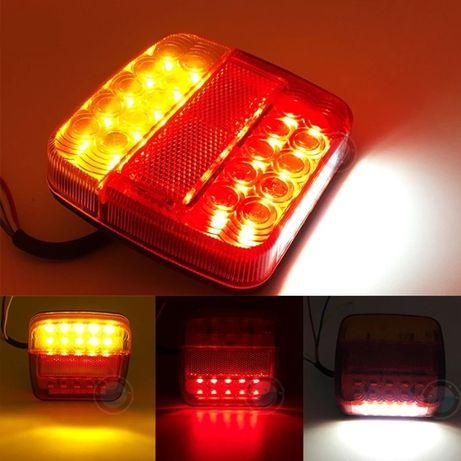 Set 2 lampi spate LED magnetice remorca, remorca, 12-24V, 7 pini, 7.5m