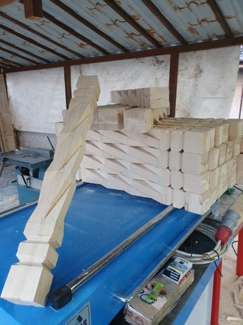 Grinzi coloane balustri lemn stalpi gardulet terase foisoare