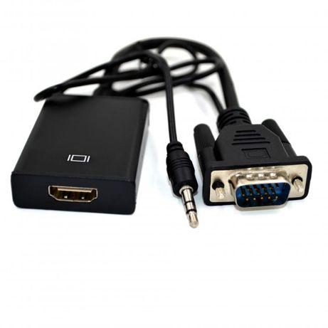 Мультимедийный конвертер VGA+аудио-HDMI, 5V 1A, Black новый в упаковке