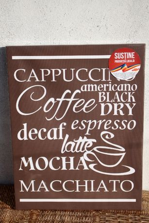 "Tablou Panza "" Cafea "" 35 x 45 cm"