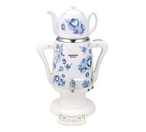 Cамовар-термопот электрический с керамическим чайником «Гжель»