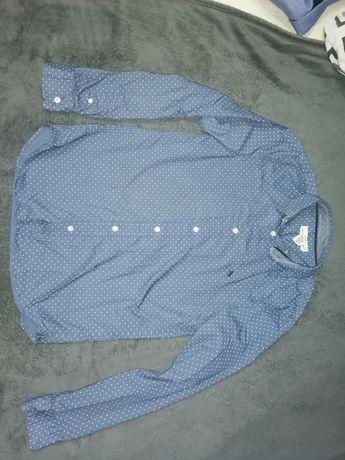 Cămașă băieți H&M, albastra cu buline 13-14 ani