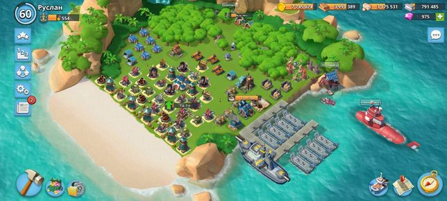 Продаю аккаунт Boom beach