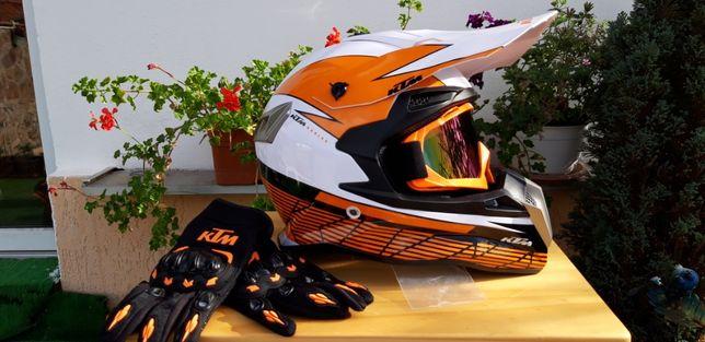 Casca KTM moto enduro quad motocross downhill atv mx utv snowmobile