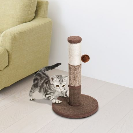 Котешка драскалка с топка за игра Pawhut