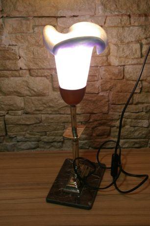 Ofer spre vanzare lampa de birou-art deco cromata-abajur deosebit