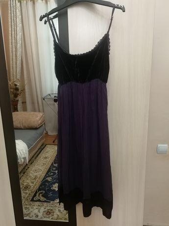 Платье Италия, велюр с шифоном