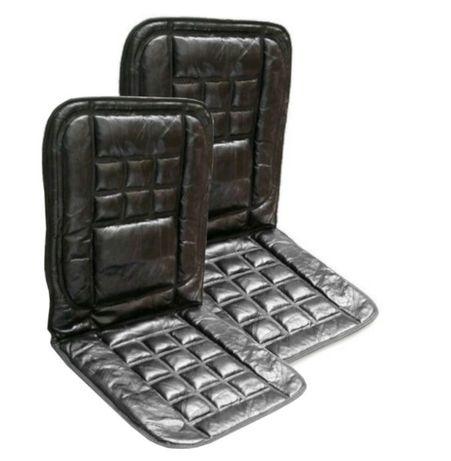 Комплект 2 броя ортопедични масажиращи авто седалки естествена кожа