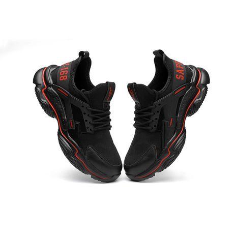 Леки и удобни работни обувки с метално предпазно бомбе 9979