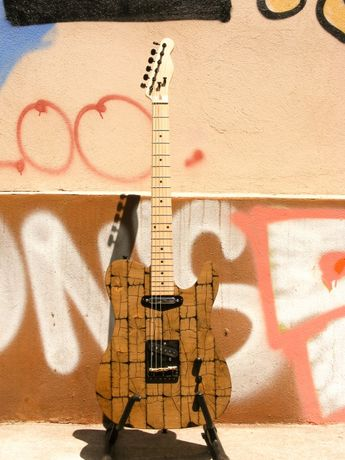 Chitara Custom Telecaster, End-grain top, cu doze Dimarzio
